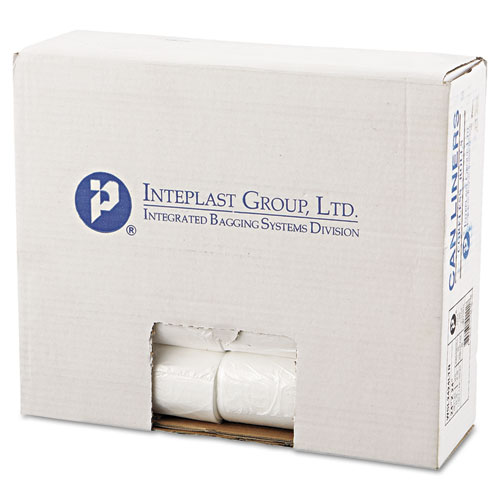 """Low-Density Commercial Can Liners, 10 gal, 0.35 mil, 24"""" x 24"""", Clear, 1,000/Carton. Picture 2"""