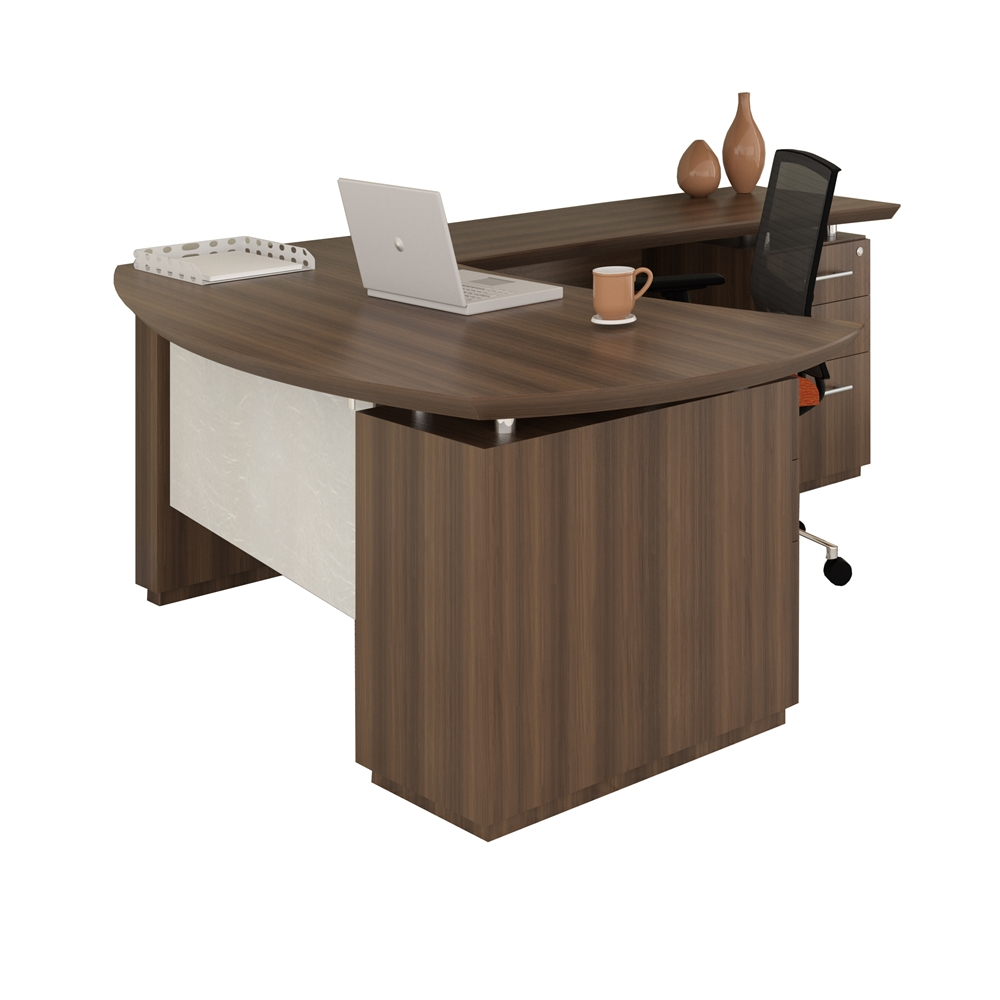 L Shaped Left Handed 66 Quot Desk System With 1 B B F