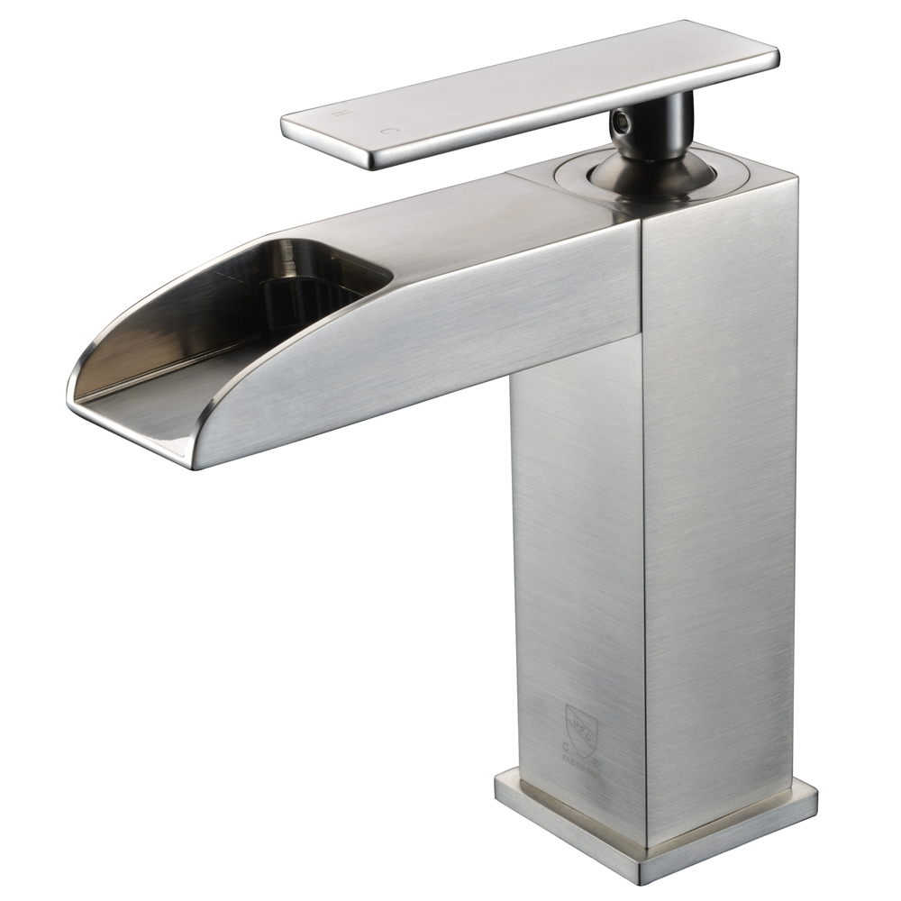 Ab1598 Bn Brushed Nickel Single Hole Waterfall Bathroom Faucet