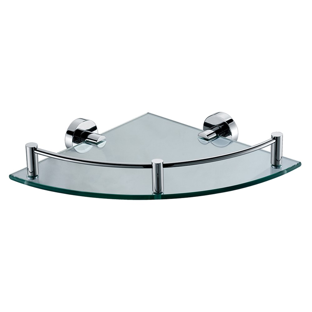 ALFI brand AB9546 Polished Chrome Corner Mounted Glass Shower Shelf ...