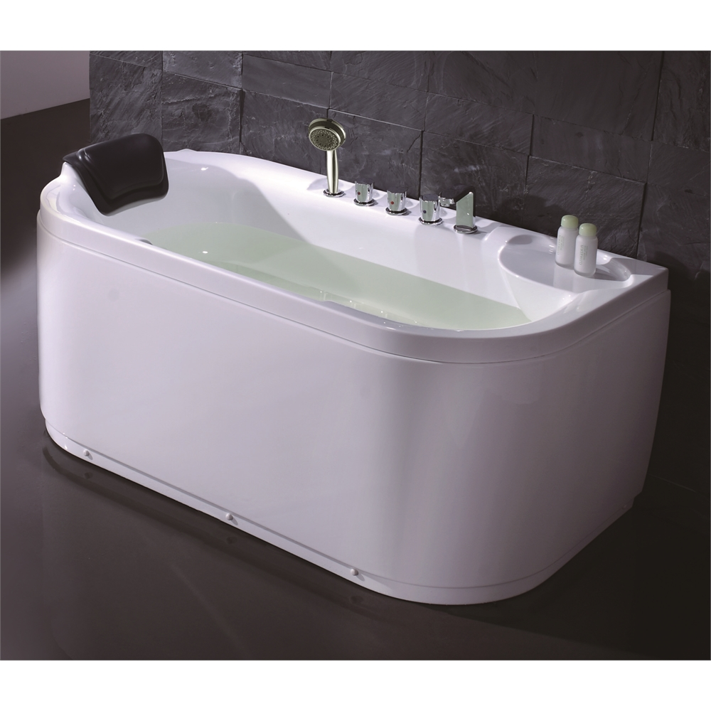 White Acrylic 5\' Soaking Tub with Fixtures