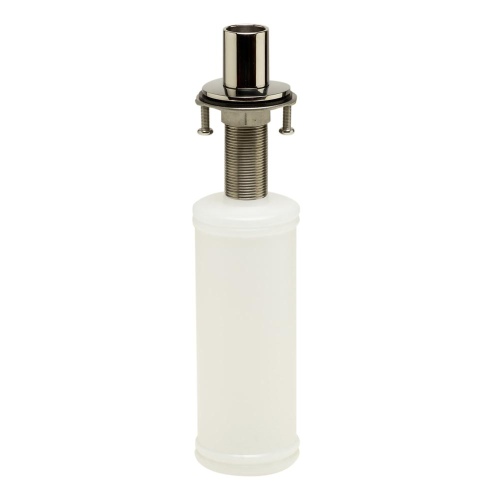 Modern Round Polished Stainless Steel Soap Dispenser Thumbnail