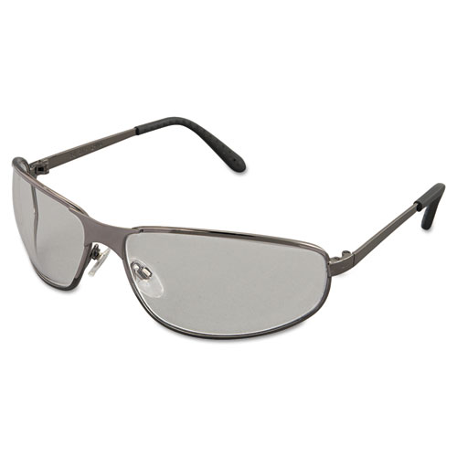 Tomcat Safety Glasses, Gun Metal Frame, Clear Lens. Picture 1