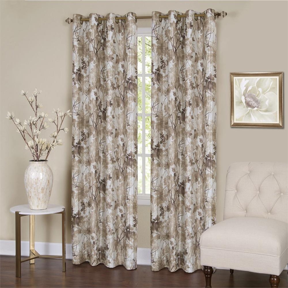 Achim Tranquil - Lined Grommet Window Curtain Panel - 50x84 - Tan