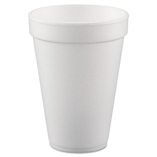 Conex Hot/Cold Foam Drinking Cups, 10oz, White, 40/Bag, 25 Bags/Carton. Picture 1