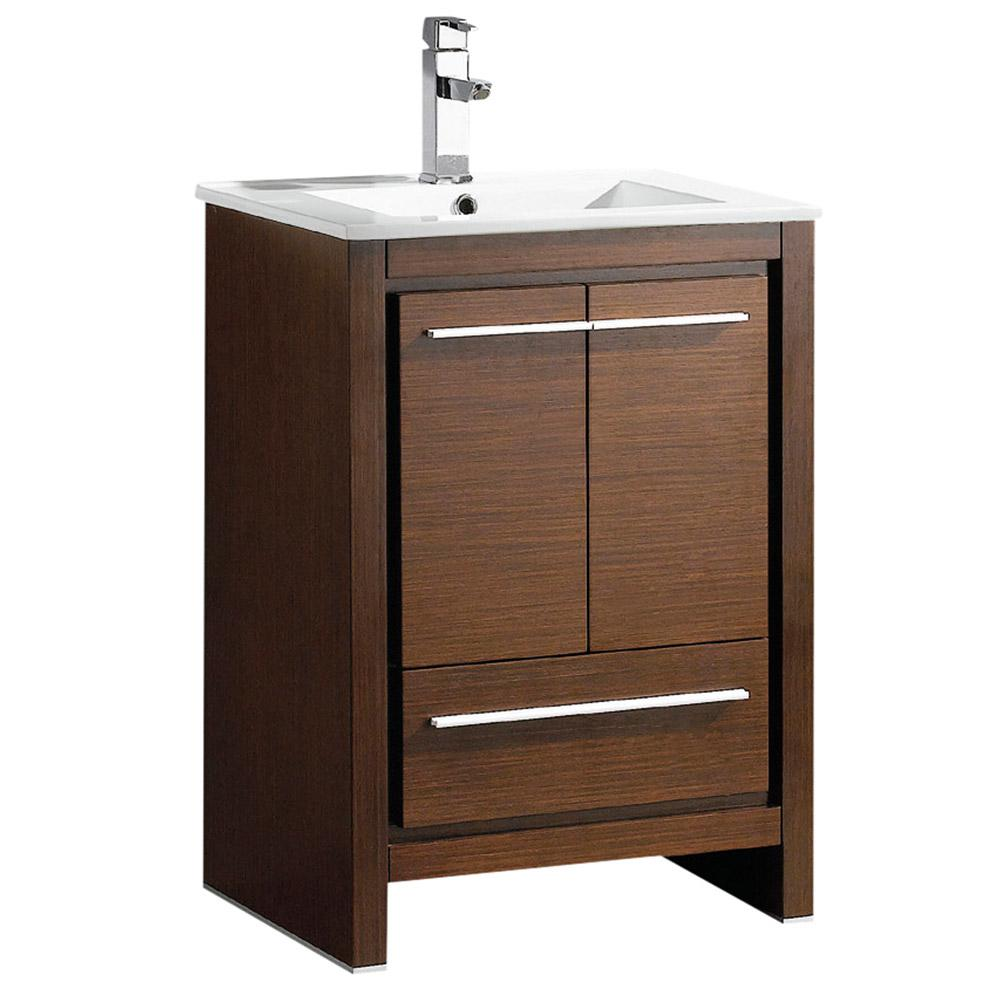 wenge bathroom cabinets allier 24 quot wenge brown modern bathroom cabinet w sink 15035