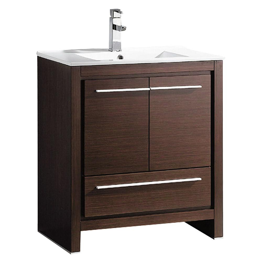 wenge bathroom cabinets allier 30 quot wenge brown modern bathroom cabinet w sink 15035