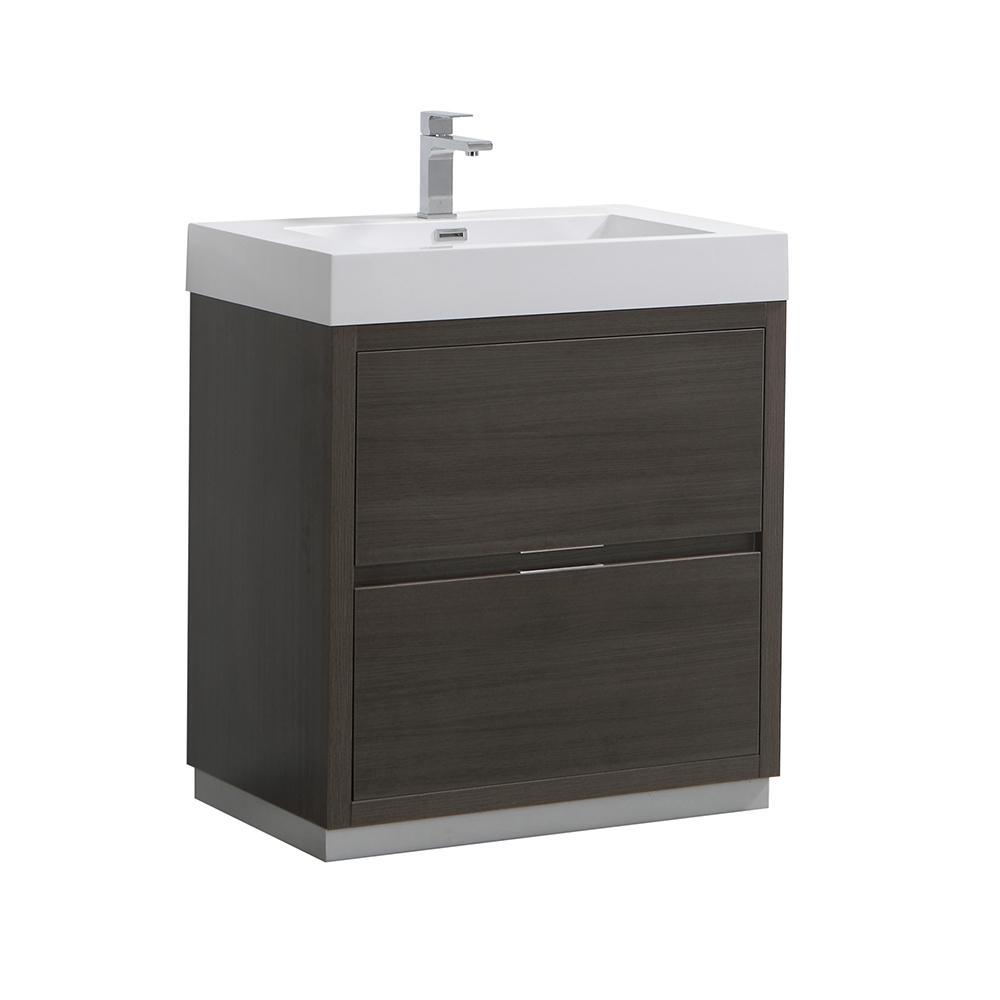 Fresca Valencia 30 Gray Oak Free Standing Modern Bathroom Vanity