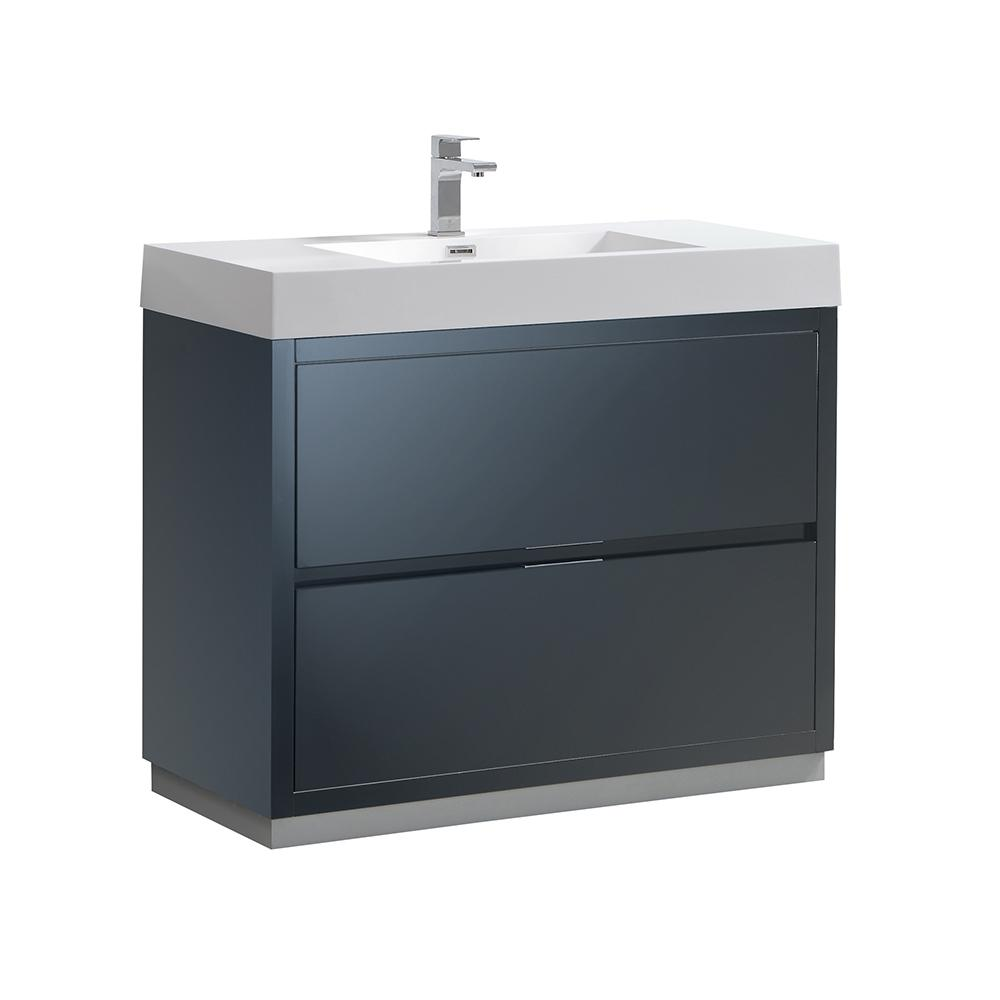 Valencia 40 Quot Dark Slate Gray Free Standing Modern Bathroom