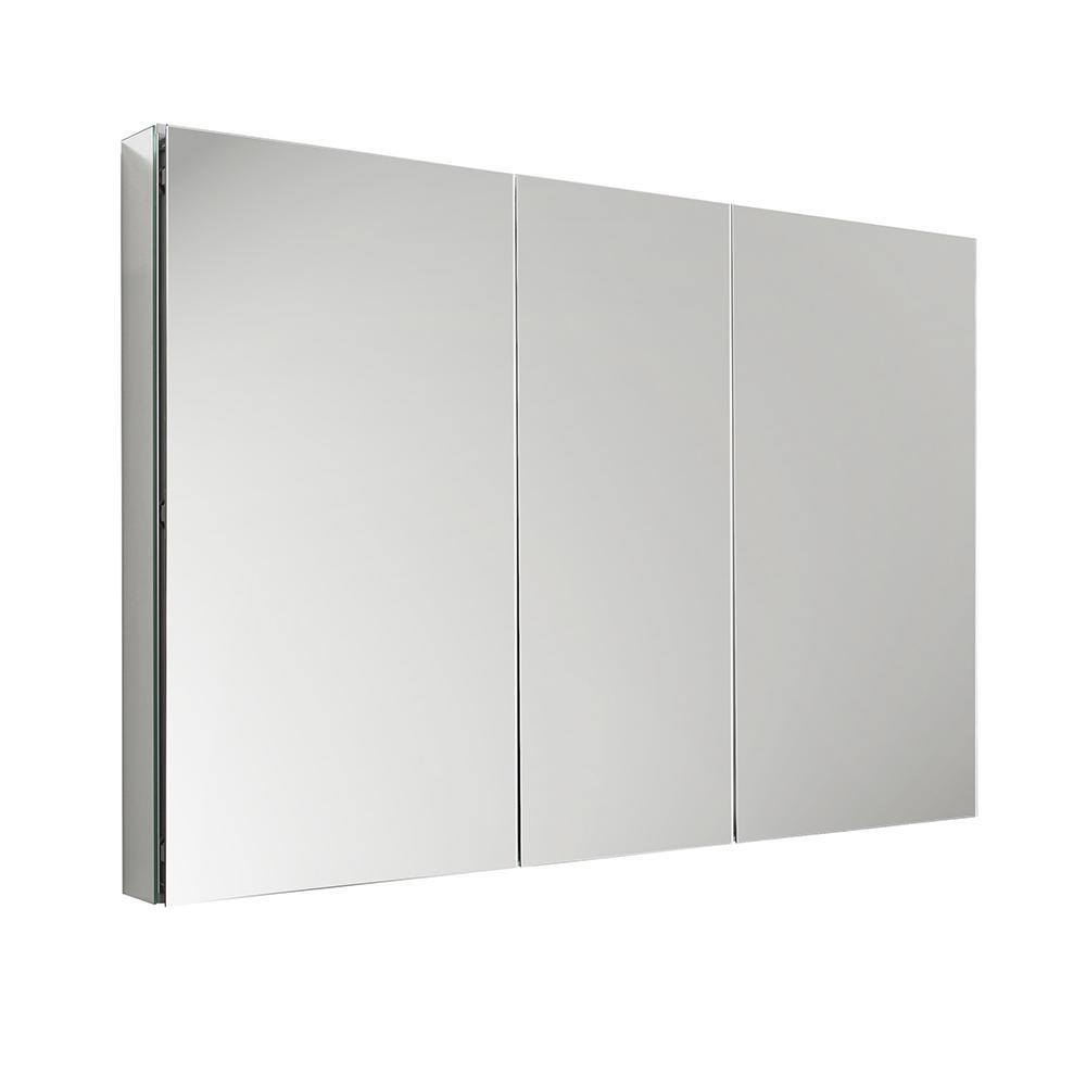 Fresca 50 wide x 36 tall bathroom medicine cabinet w mirrors for Fresca 60 wide bathroom medicine cabinet w mirrors
