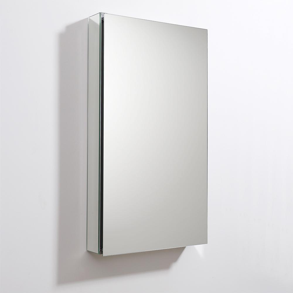 """Fresca 20"""" Wide x 36"""" Tall Bathroom Medicine Cabinet w/ Mirrors. Picture 6"""