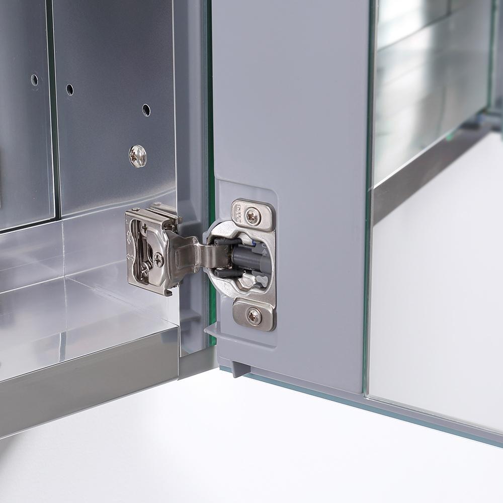 """Fresca 20"""" Wide x 36"""" Tall Bathroom Medicine Cabinet w/ Mirrors. Picture 2"""