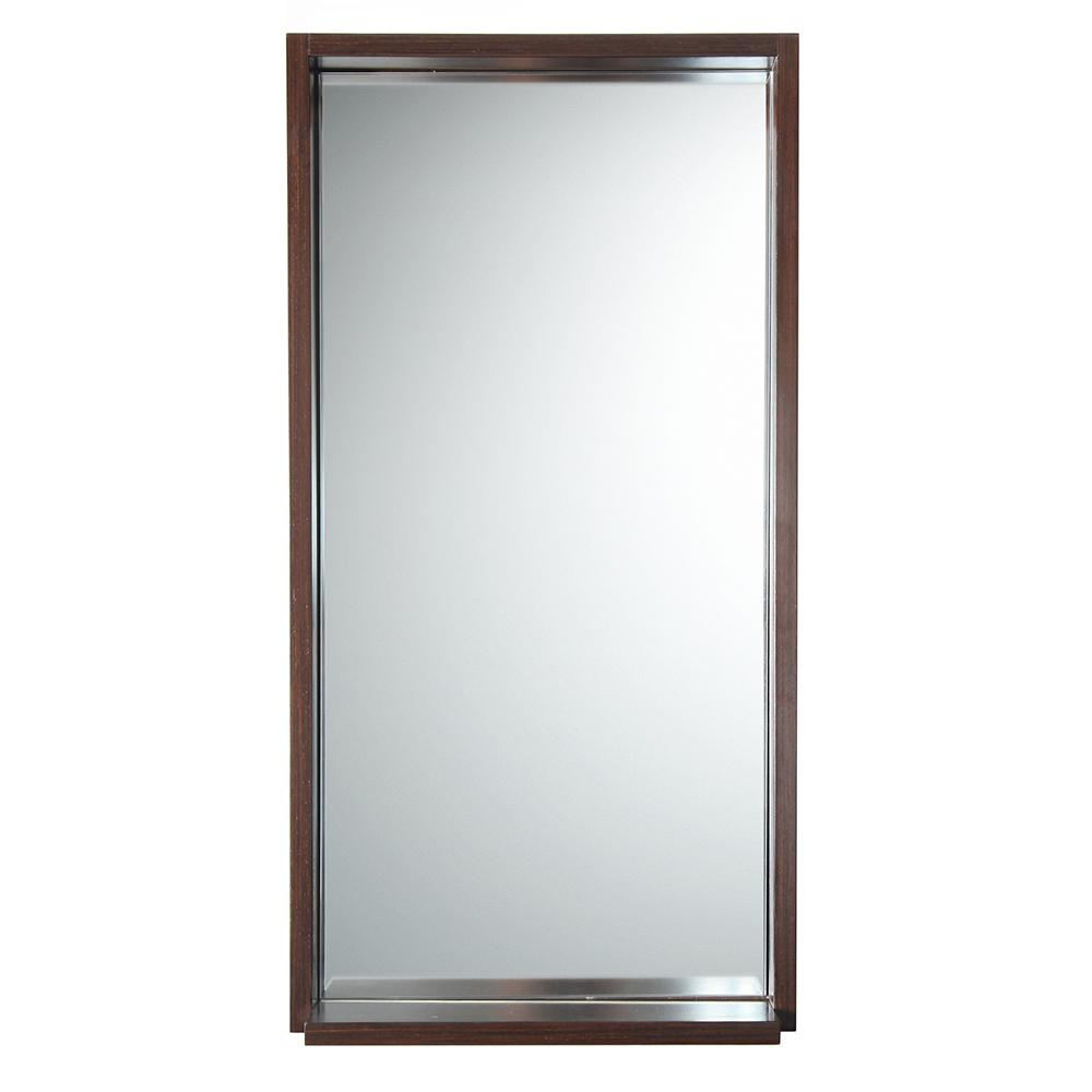 Allier 16 wenge mirror with shelf for Miroir wenge