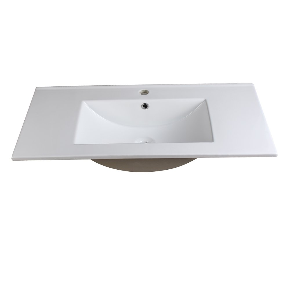 White Integrated Sink Countertop