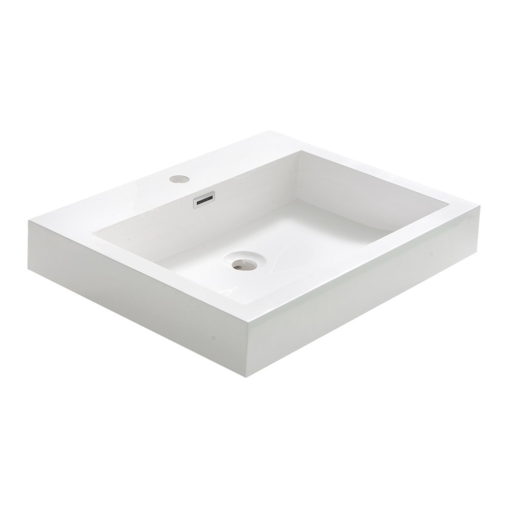 Alto 23 White Integrated Sink Countertop
