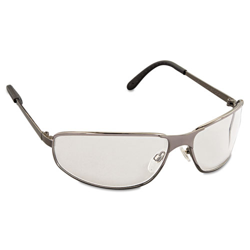 Tomcat Safety Glasses, Gun Metal Frame, Clear Lens. Picture 2