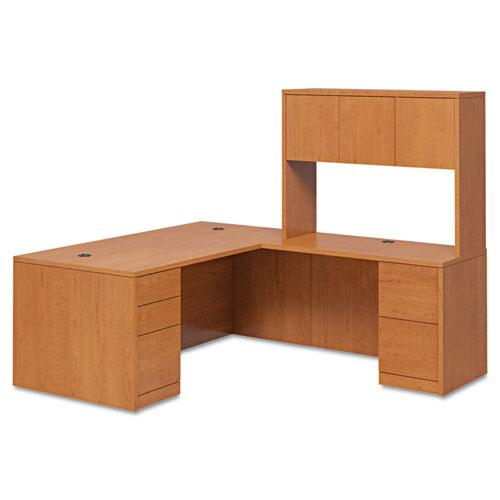 "10500 Series ""L"" Workstation Left Pedestal Desk with Full-Height Pedestal, 72"" x 36"" x 29.5"", Harvest. Picture 2"