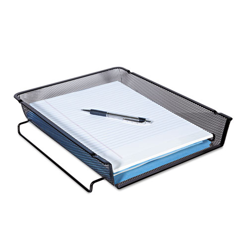 """Deluxe Mesh Stackable Front Load Tray, 1 Section, Letter Size Files, 11.25"""" x 13"""" x 2.75"""", Black. Picture 2"""