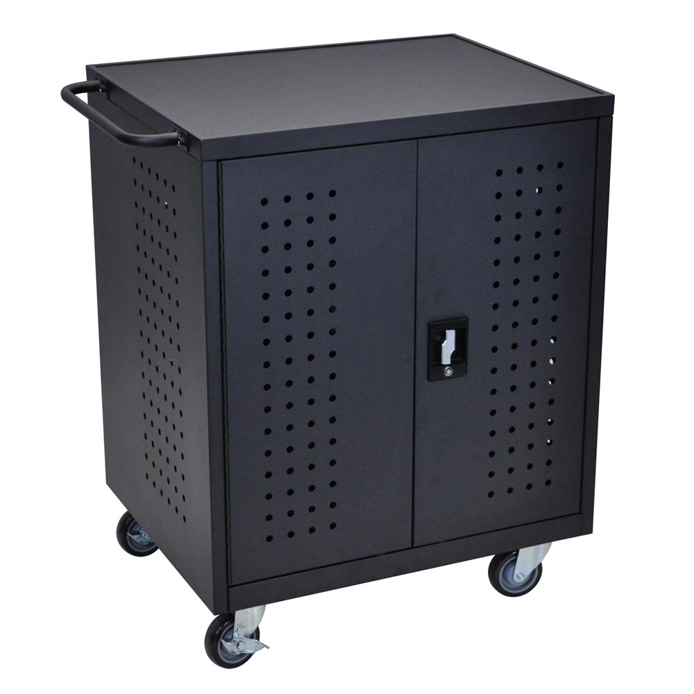 Black 42 Computer Tablet Charging Cart