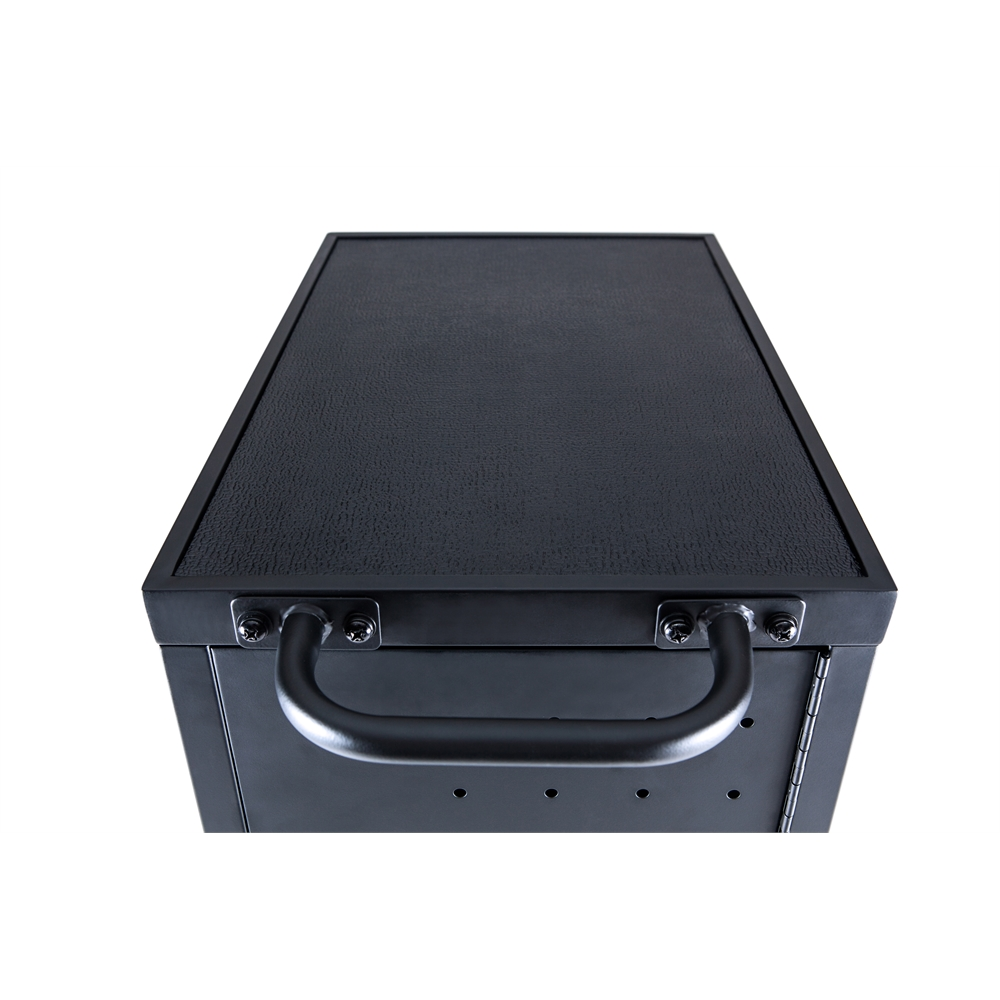 Black 12 Chromebook Charging Cart Includes Electrical Outlets