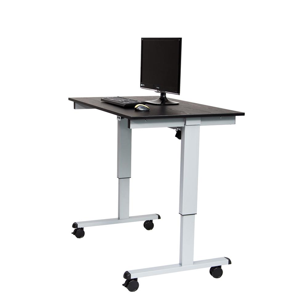 stande 48 48 electric standing desk gray black. Black Bedroom Furniture Sets. Home Design Ideas