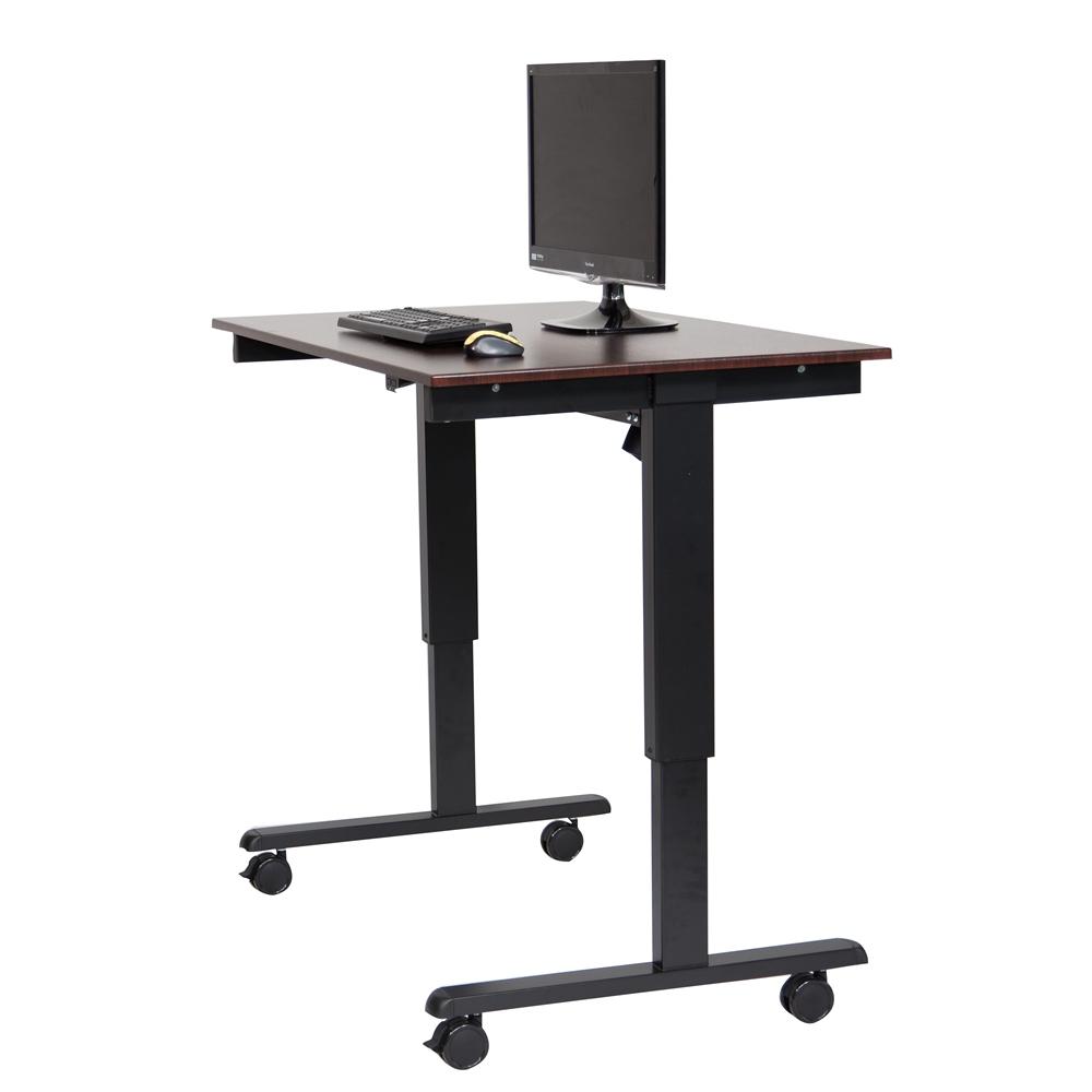 Stande 48 48 Quot Electric Standing Desk Black Walnut