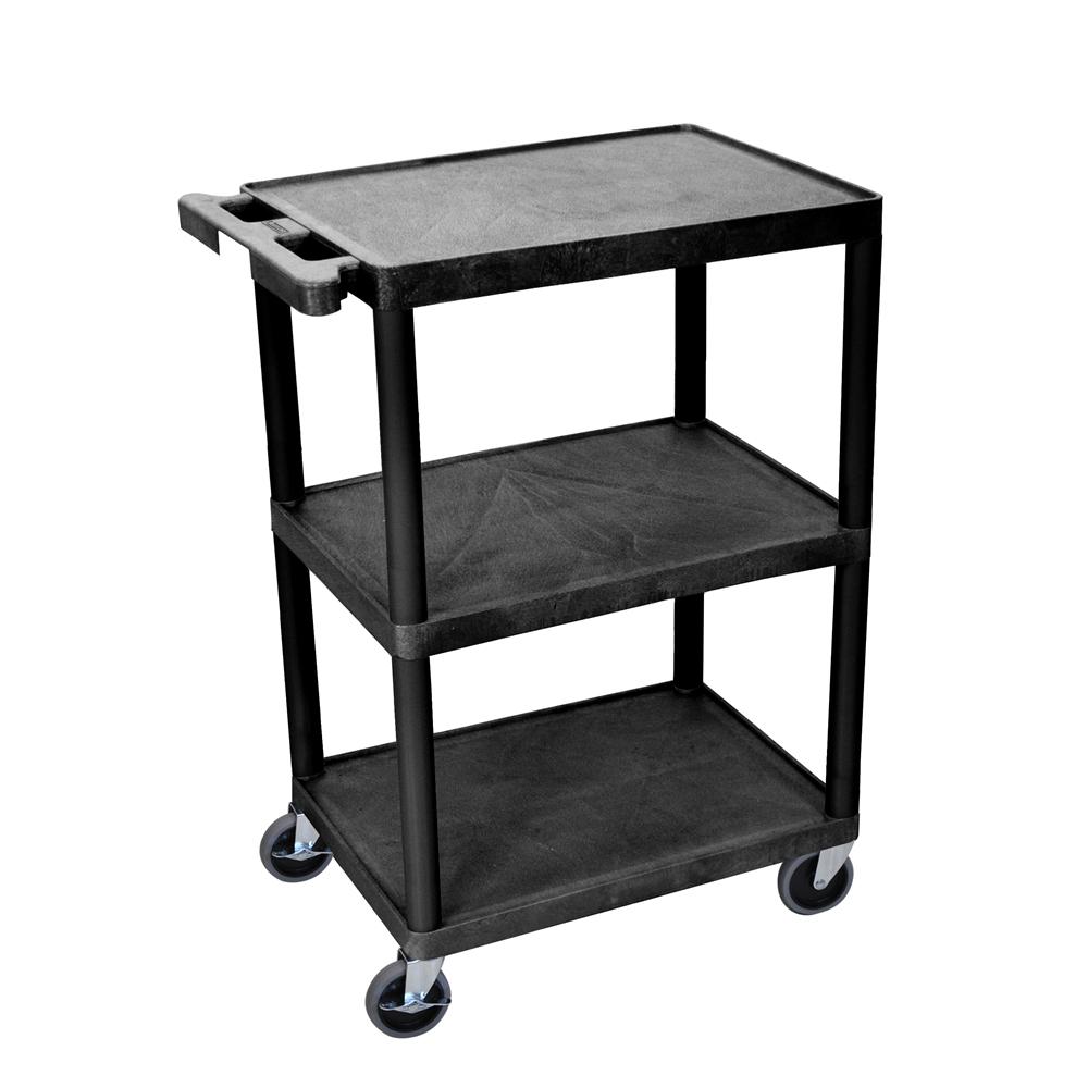 3 Shelf Black Cart. Picture 1
