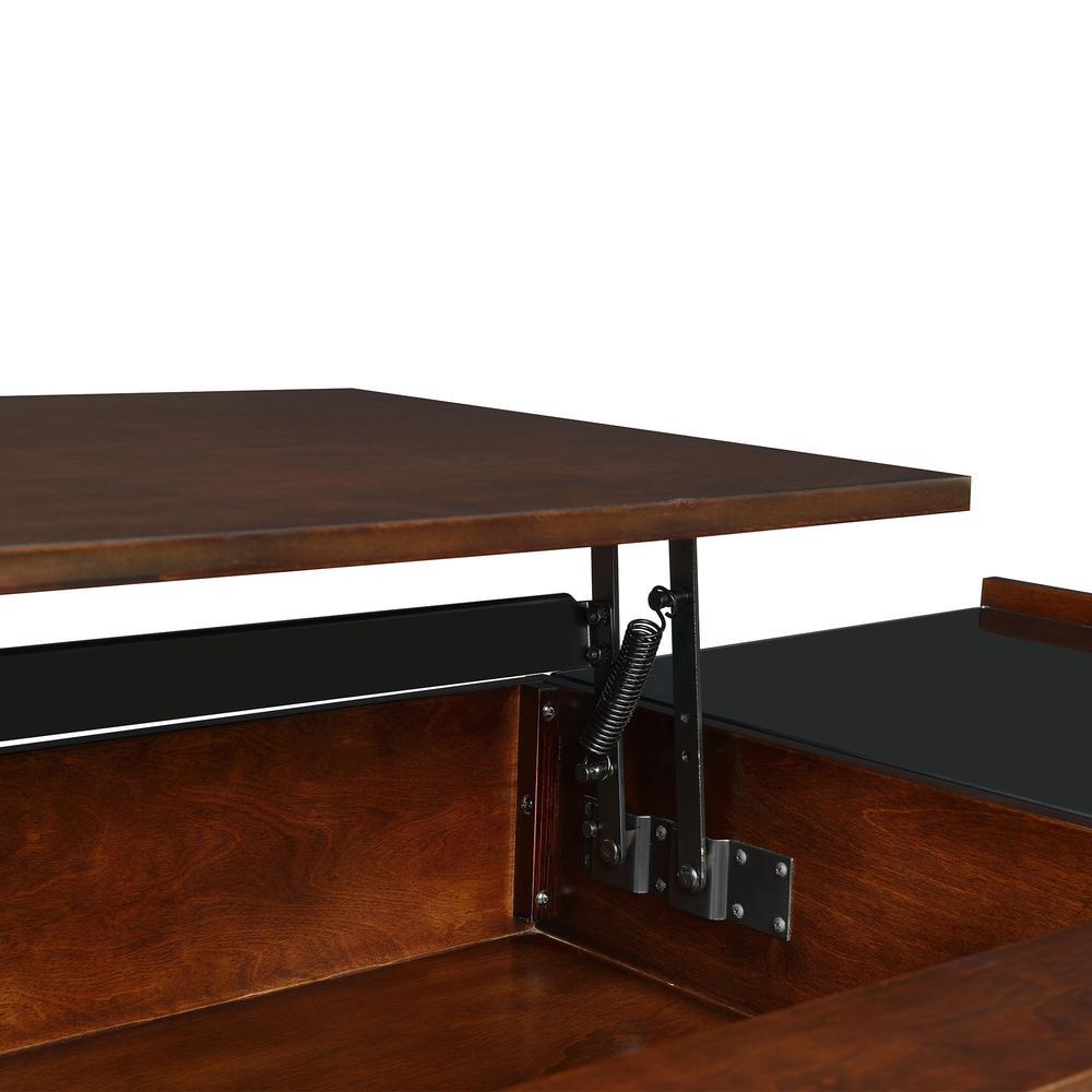 Morgan Mid-Century Lift-Top Coffee Table in Espresso
