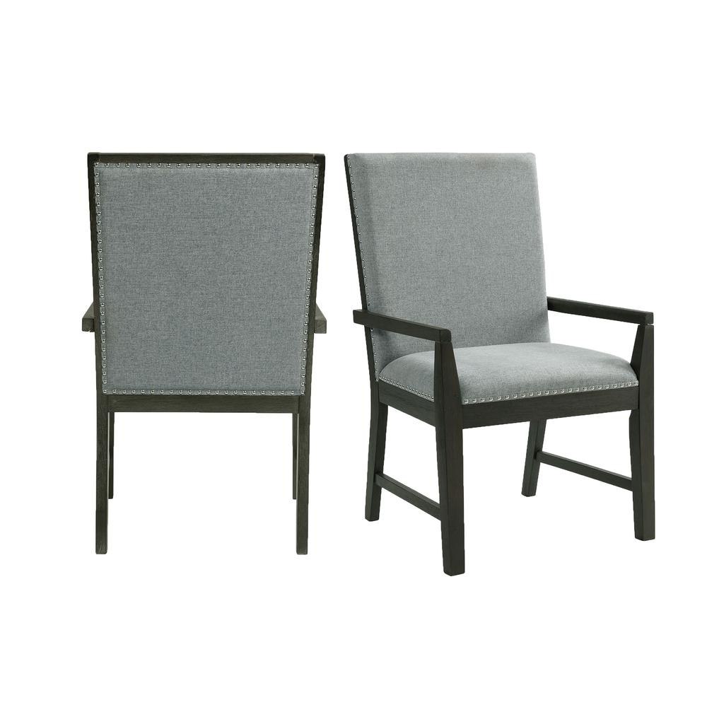 Holden Standard Height Arm Chair Set in Gray. Picture 1