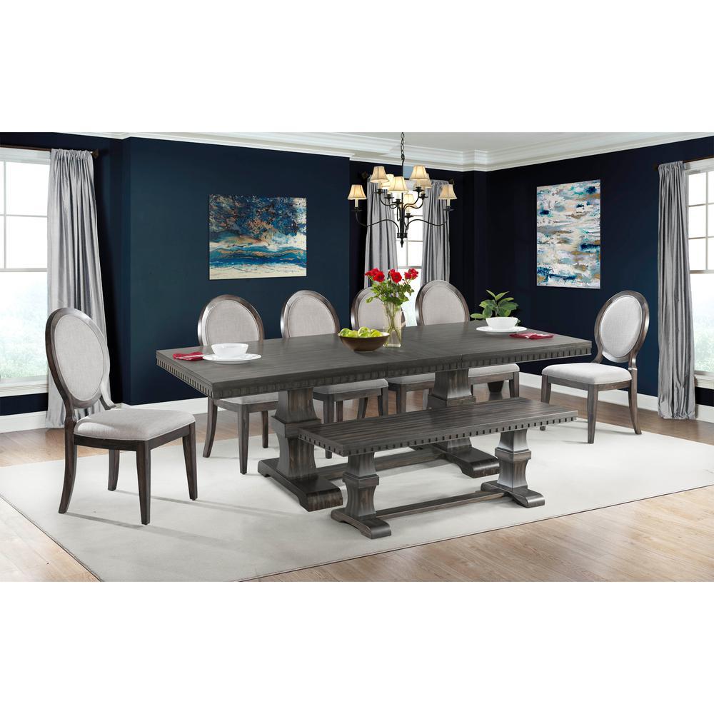 Steele 8pc Dining Set Table 6 Round