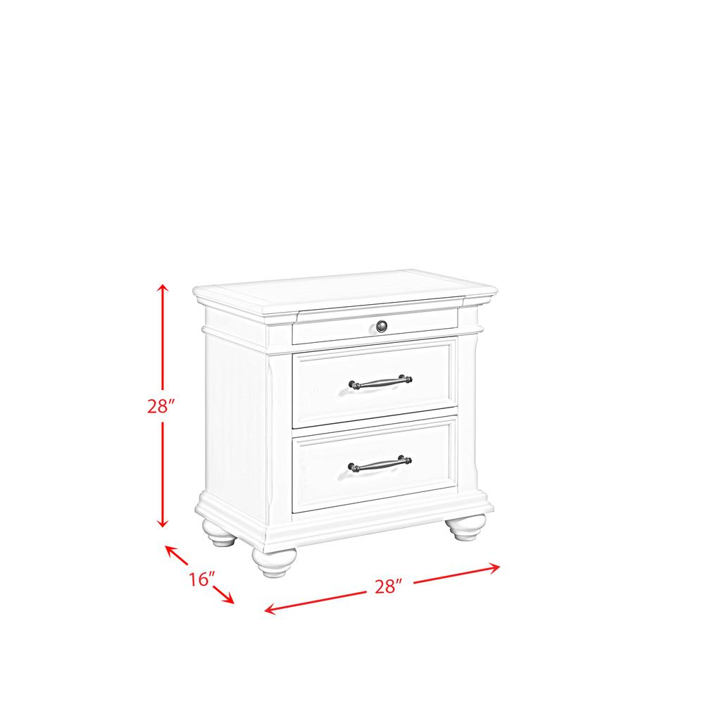 Picket House Furnishings Brooks 3-Drawer Nightstand with USB Ports. Picture 3
