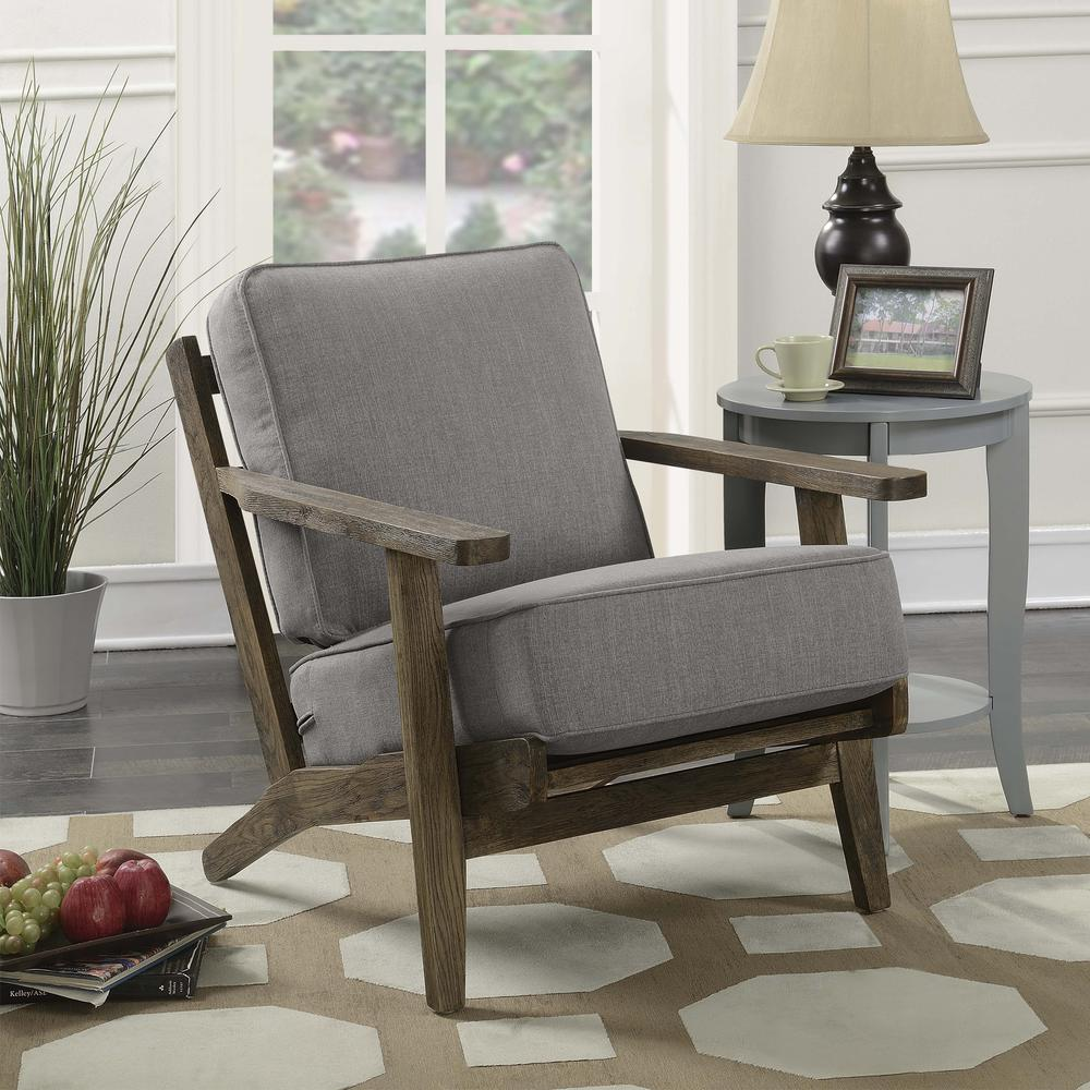 Mercer Accent Chair In Slate W Antique Legs