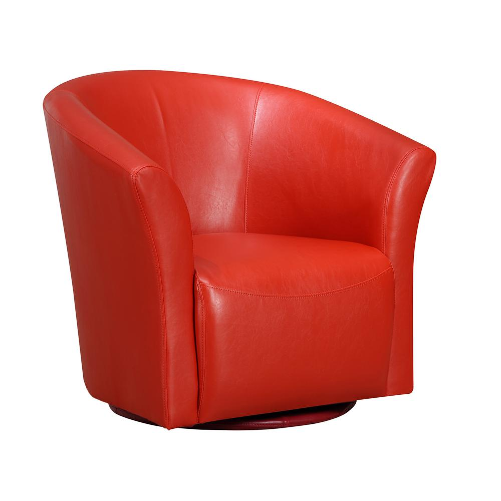 Radford Red Swivel Chair. Picture 1