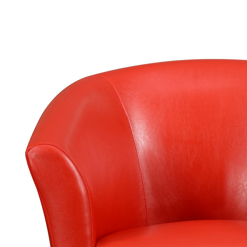 Radford Red Swivel Chair. Picture 2
