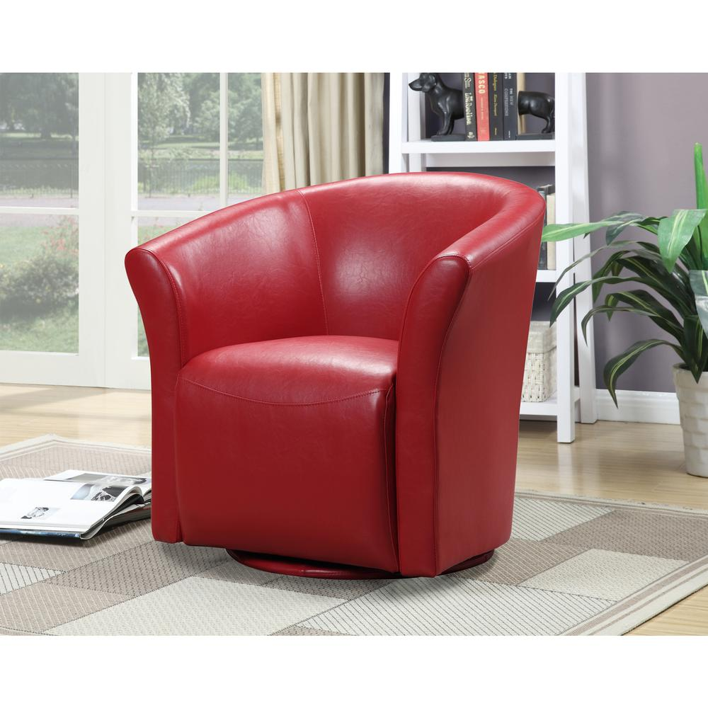 Radford Red Swivel Chair. Picture 4