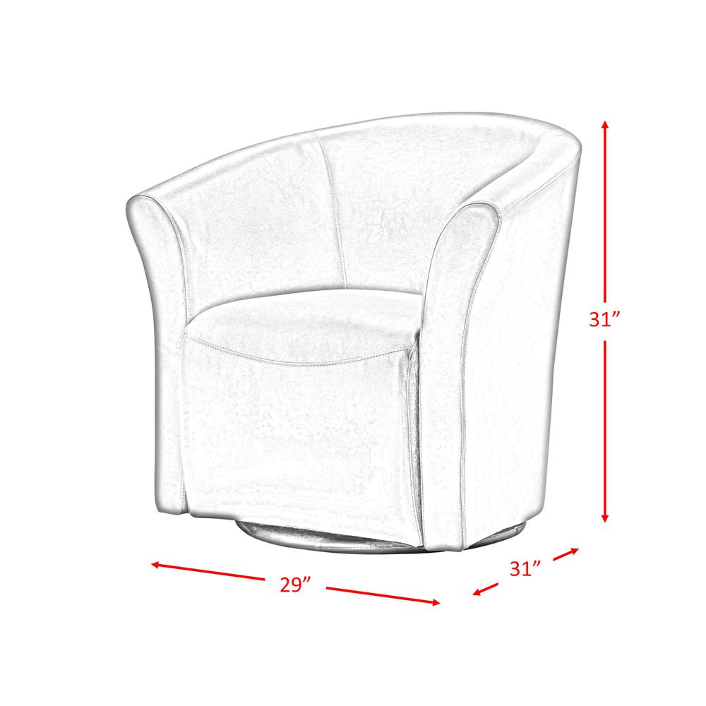 Radford Red Swivel Chair. Picture 5