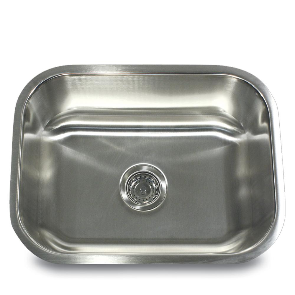 Ns09i 23 inch small rectangle single bowl undermount - 18 inch kitchen sink ...