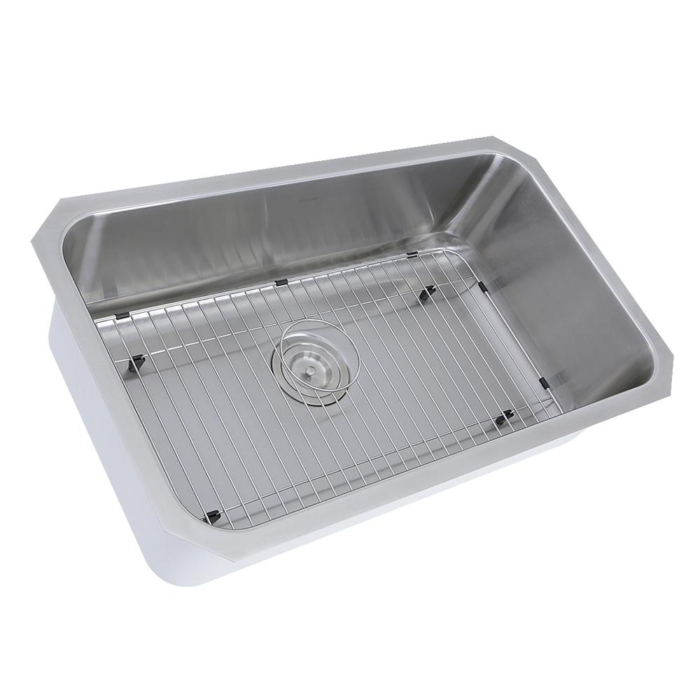 NS43-11-16 30 Inch Large Rectangle Single Bowl Undermount Stainless Steel  Kitchen Sink, 11 Inches Deep