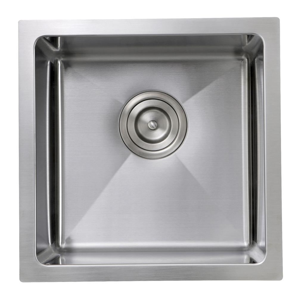 SR1515 - 15 Inch Pro Series Square Undermount Small Radius Stainless ...
