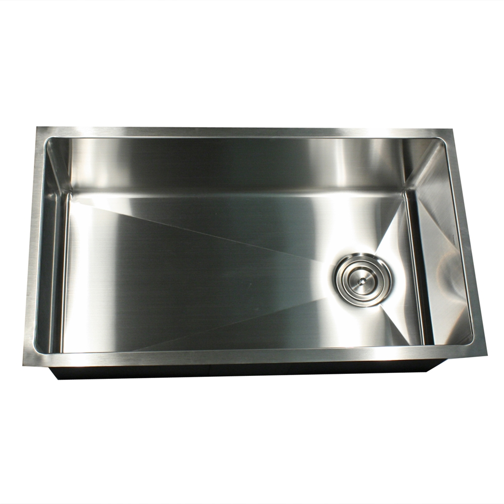 32 Inch Undermount Kitchen Sink: 32 Inch Pro Series Large Rectangle Single