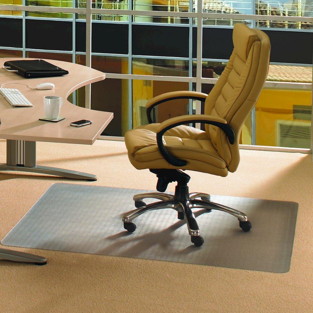 """Cleartex Advantagemat, PVC Rectangular Chair Mat, for plush pile carpets (over 3/4""""), Size 45"""" x 53"""". Picture 2"""