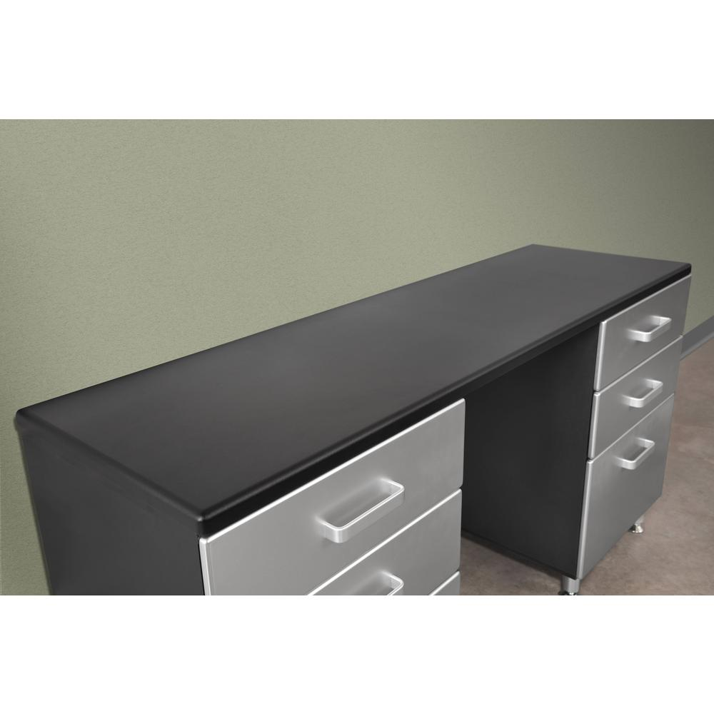 Tuff Stor 24210K 71 inch wide WorkBench with Six Sturdy Drawers and Two Overhead Cabinets. Picture 3