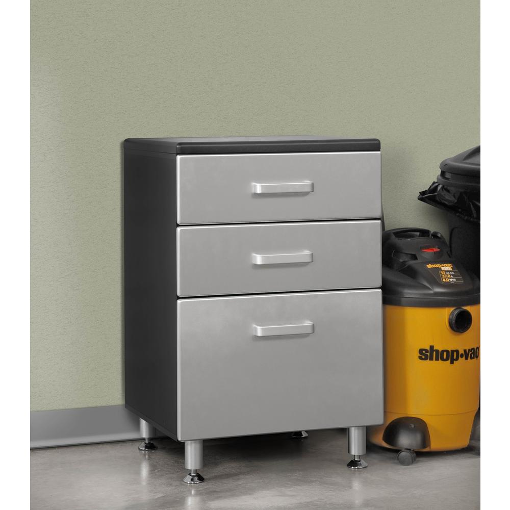 Tuff Stor 24210K 71 inch wide WorkBench with Six Sturdy Drawers and Two Overhead Cabinets. Picture 2