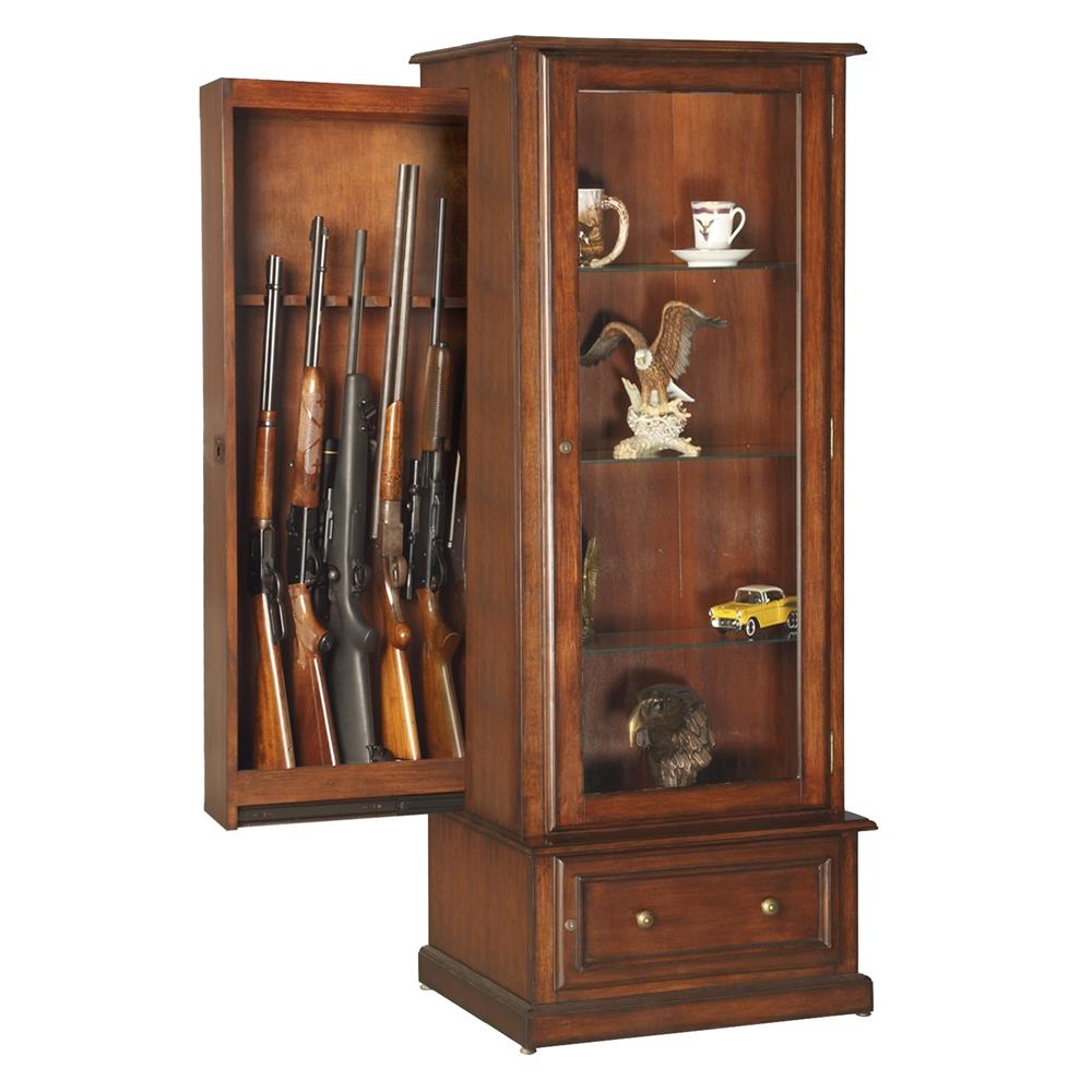Rta 10 Gun Curio Slider Cabinet Combination