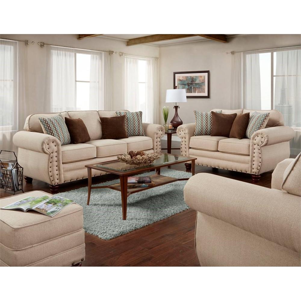 American Furniture Classics Abington Sand Four Piece Set Including