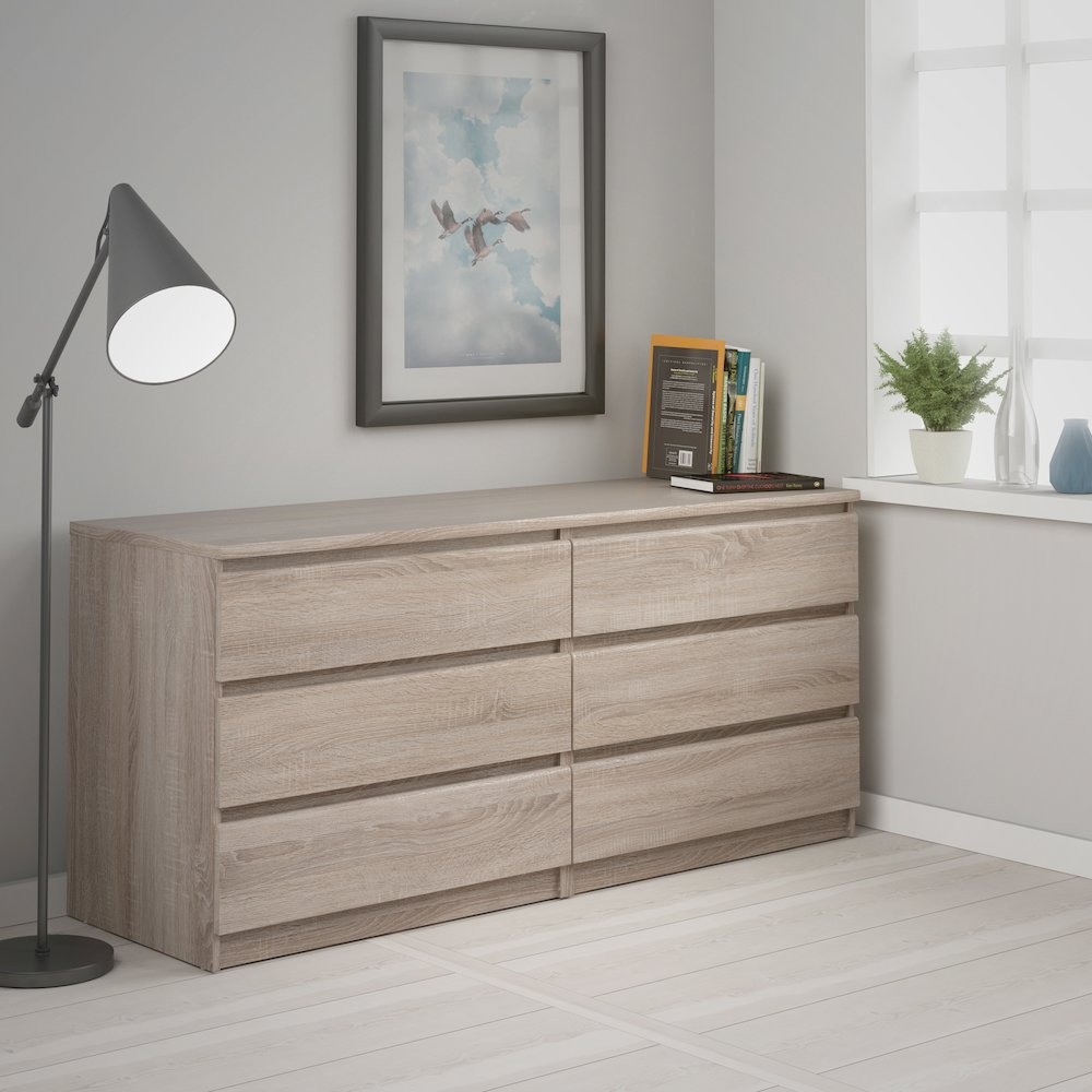 Scottsdale 6 Drawer Double Dresser, Truffle. Picture 12