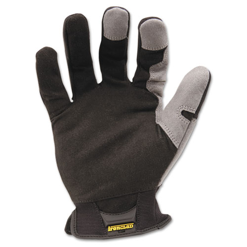 Workforce Glove, Large, Gray/Black, Pair. Picture 1