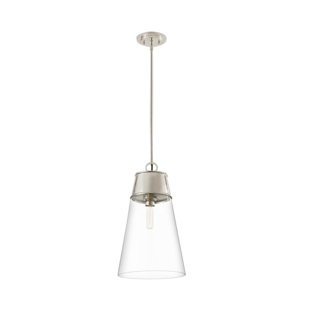 7 Light Chandelier, Matte Black Steel Frame, Steel + K9 Crystal Shade. Picture 7