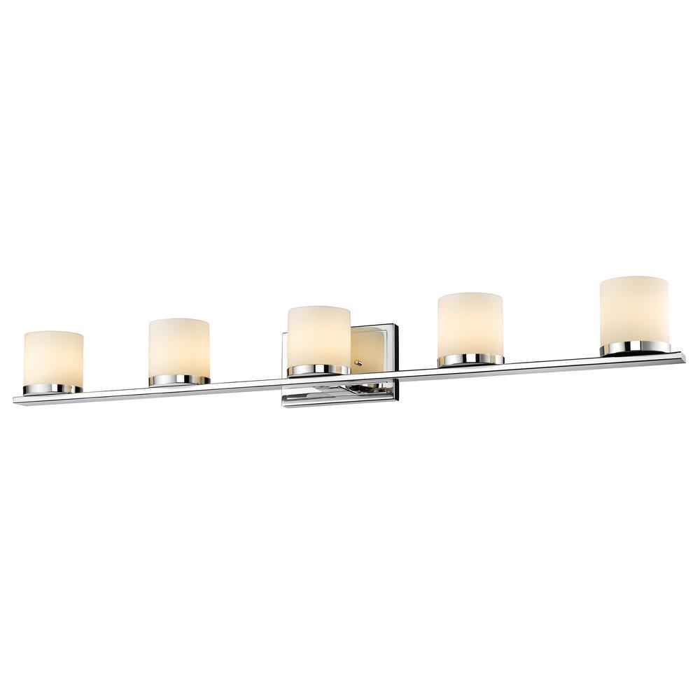 5 Light Vanity, Matte Opal