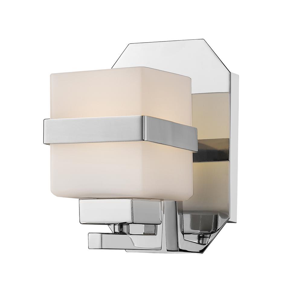 1 Light Wall Sconce, Matte Opal, 1915-1S-CH-LED